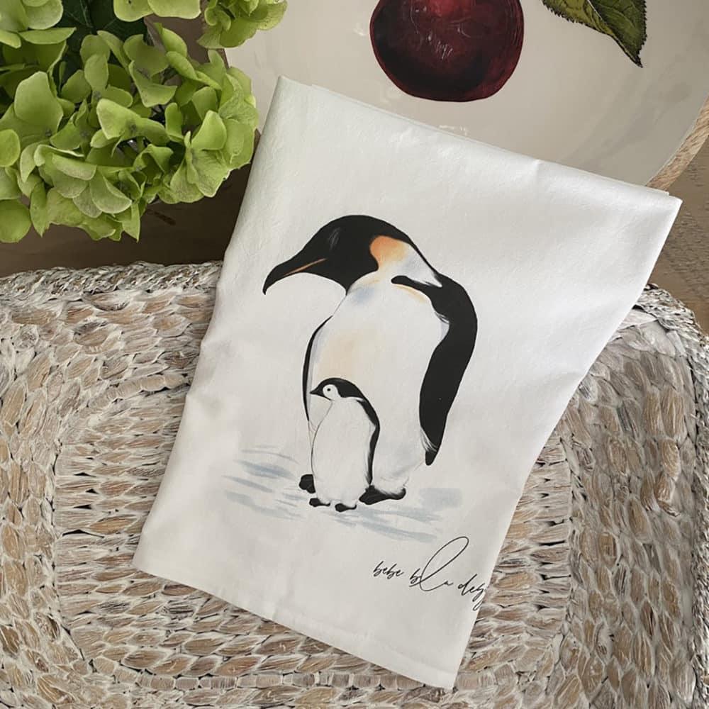 penguin & baby basket