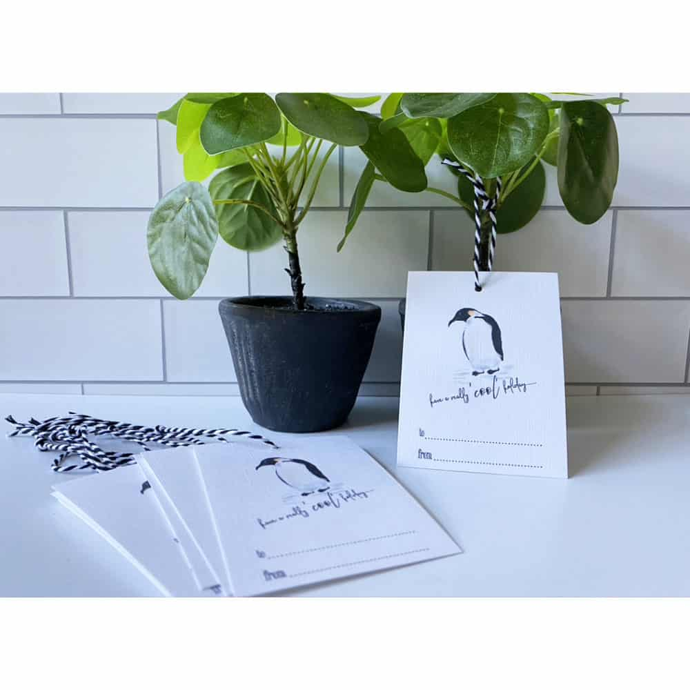 penguin holiday gift tags web