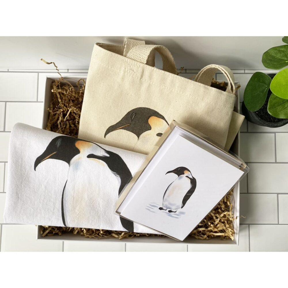 penguin tote box