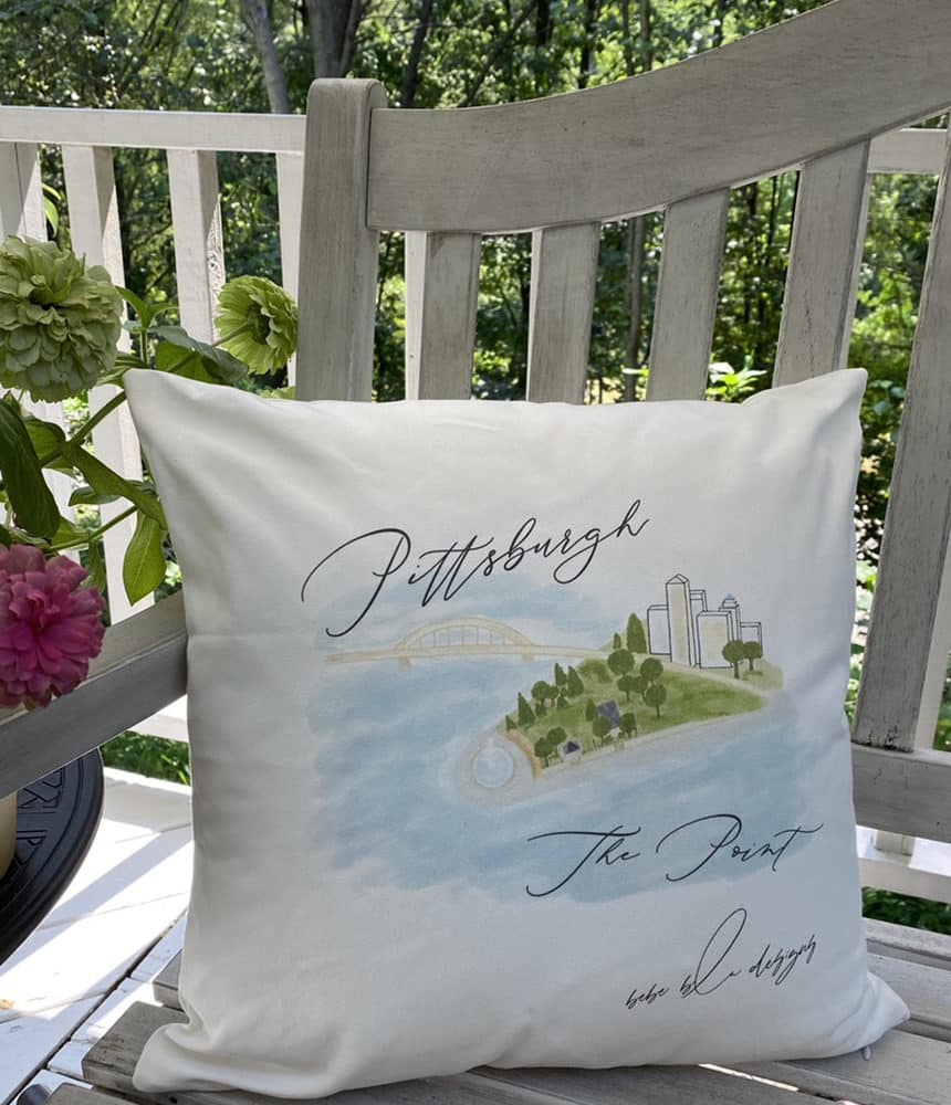 pgh the point pillow