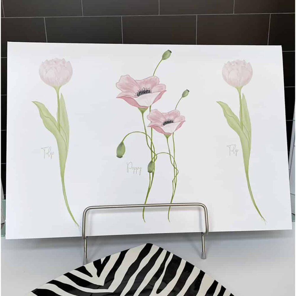 pink poppy print 2