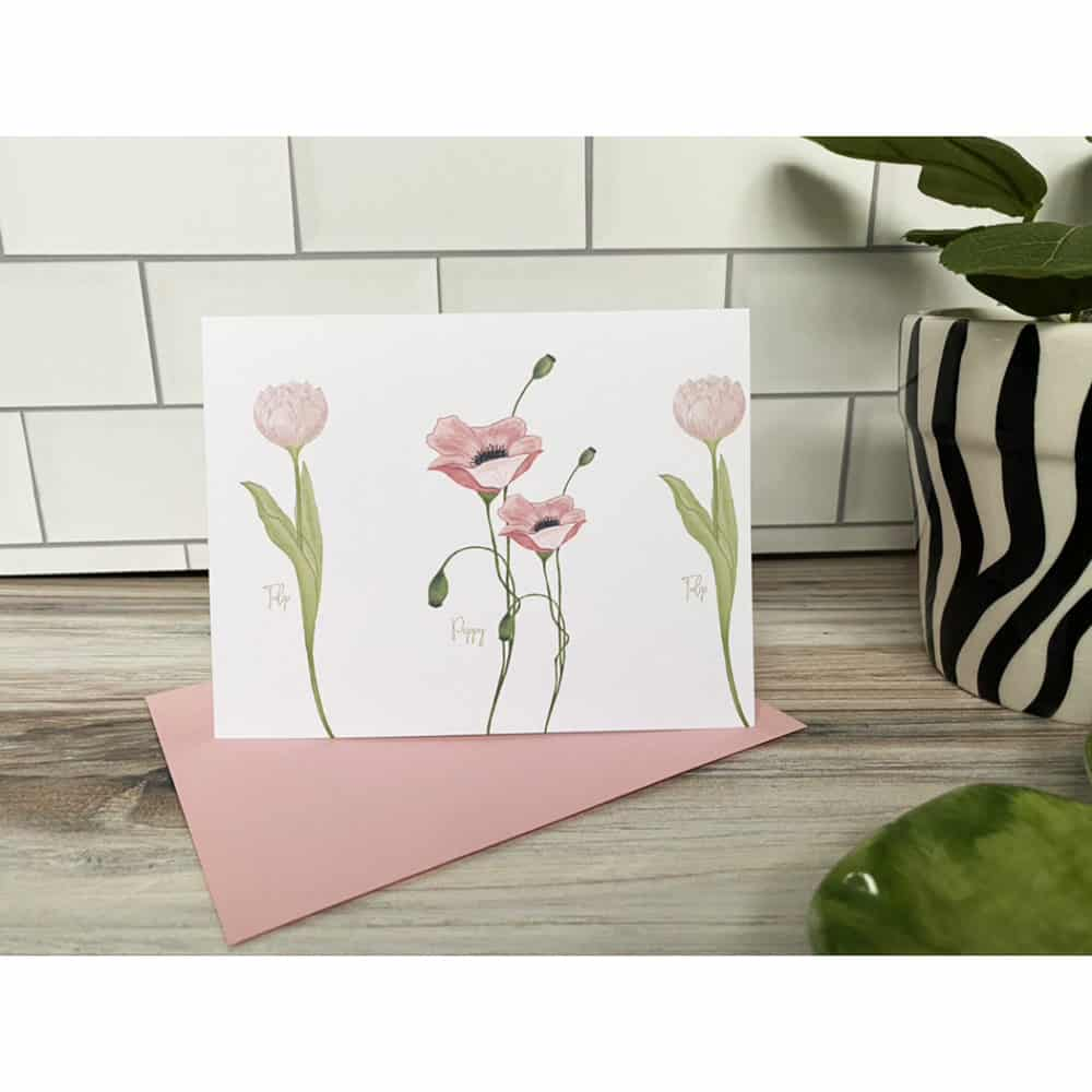 pink poppy tulips
