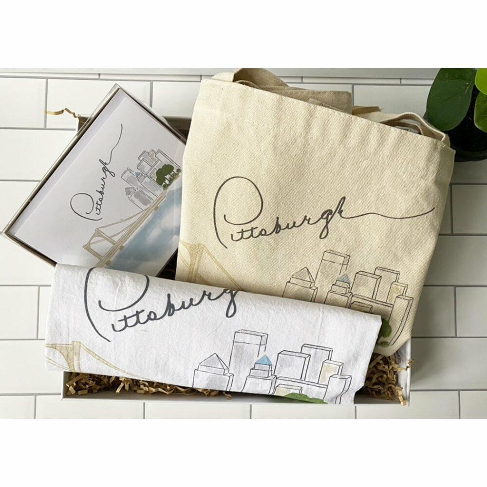 pittsburgh gift tote box