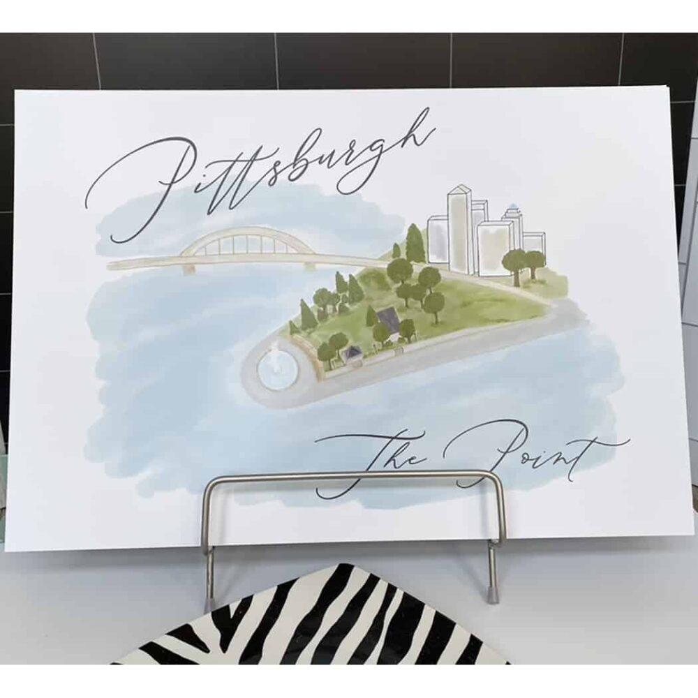 pittsburgh point print 2