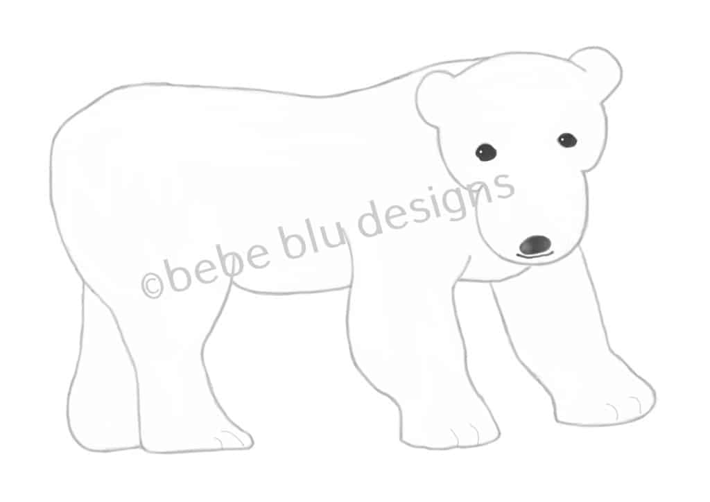 bebeblue designs: polar bear artwork