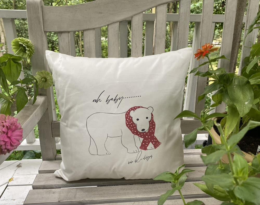 polar bear pillow