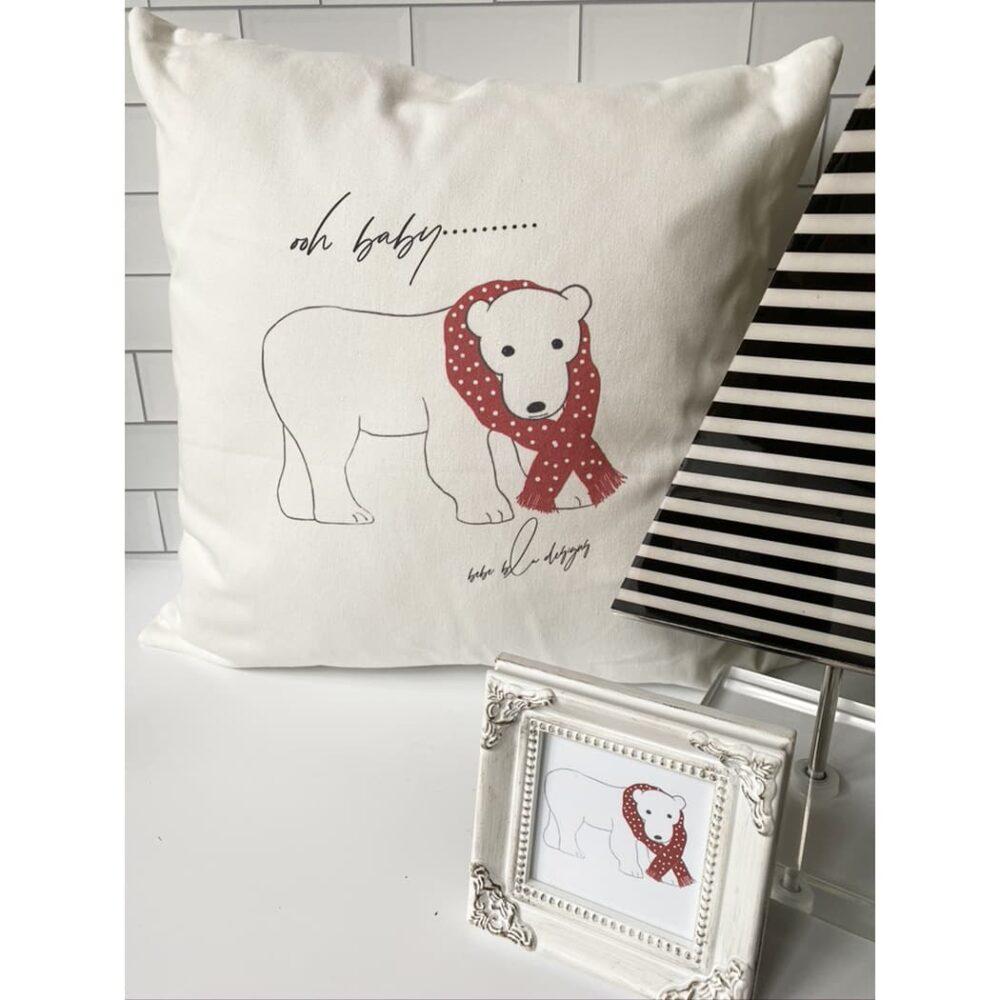 polar bear pillow for web