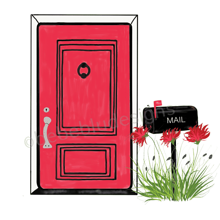 red door mail box free shipping