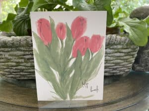 red tulip bunch