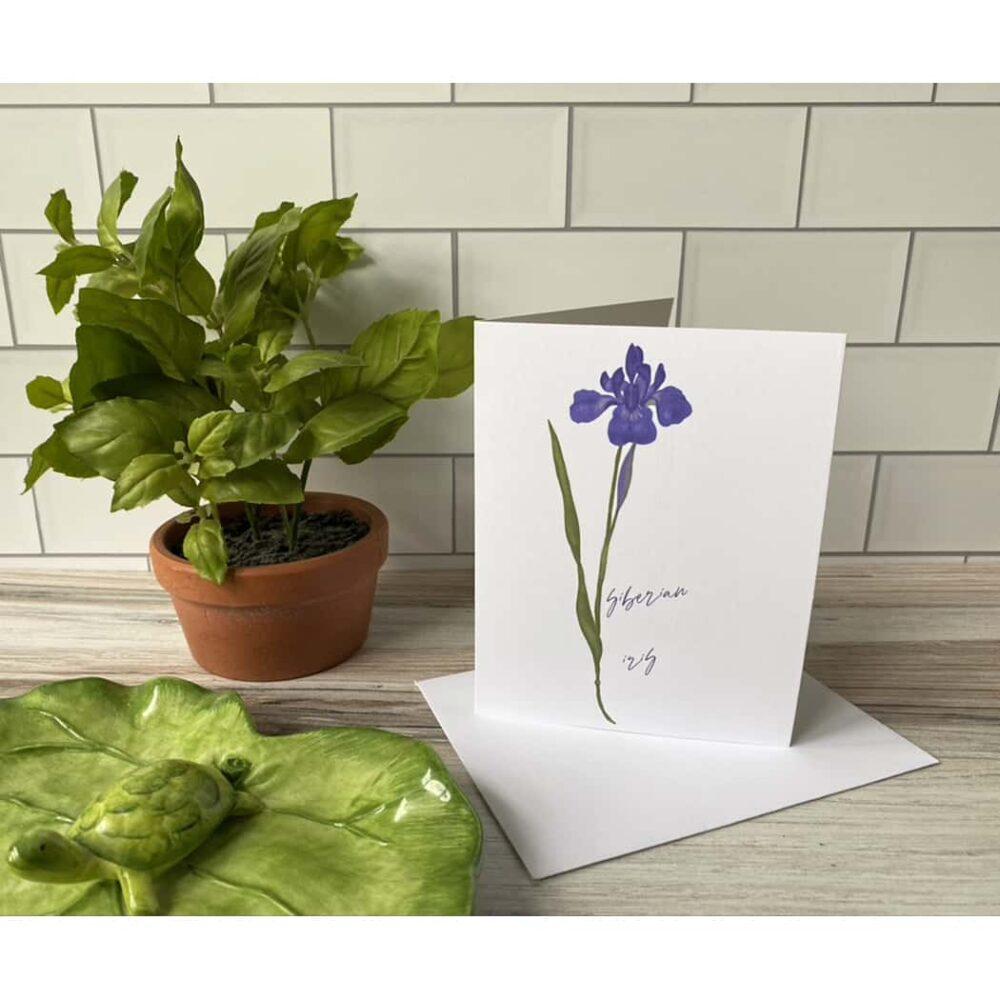 siberian iris note card