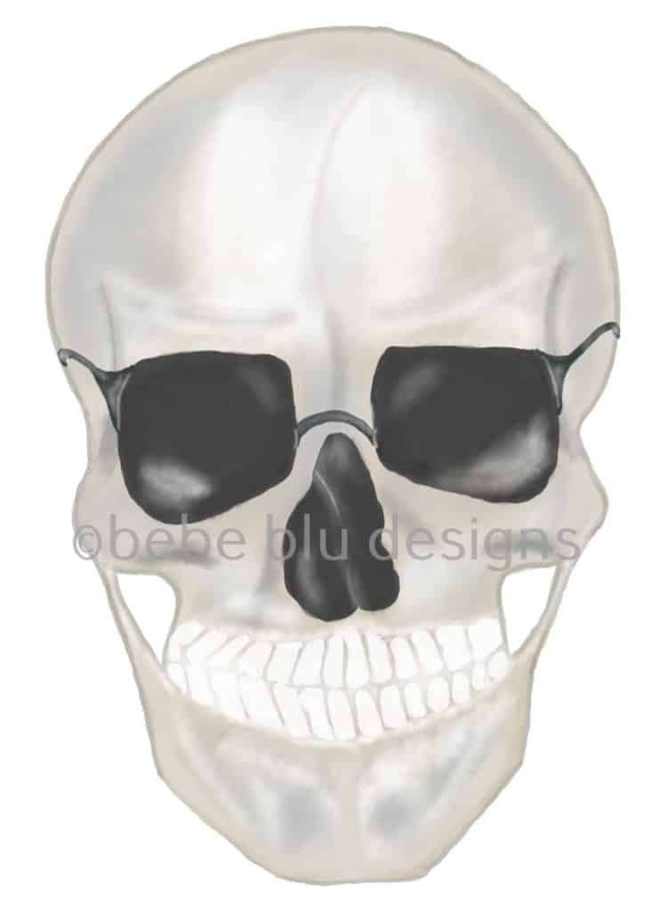 bebeblue designs: skull sunglasses artwork