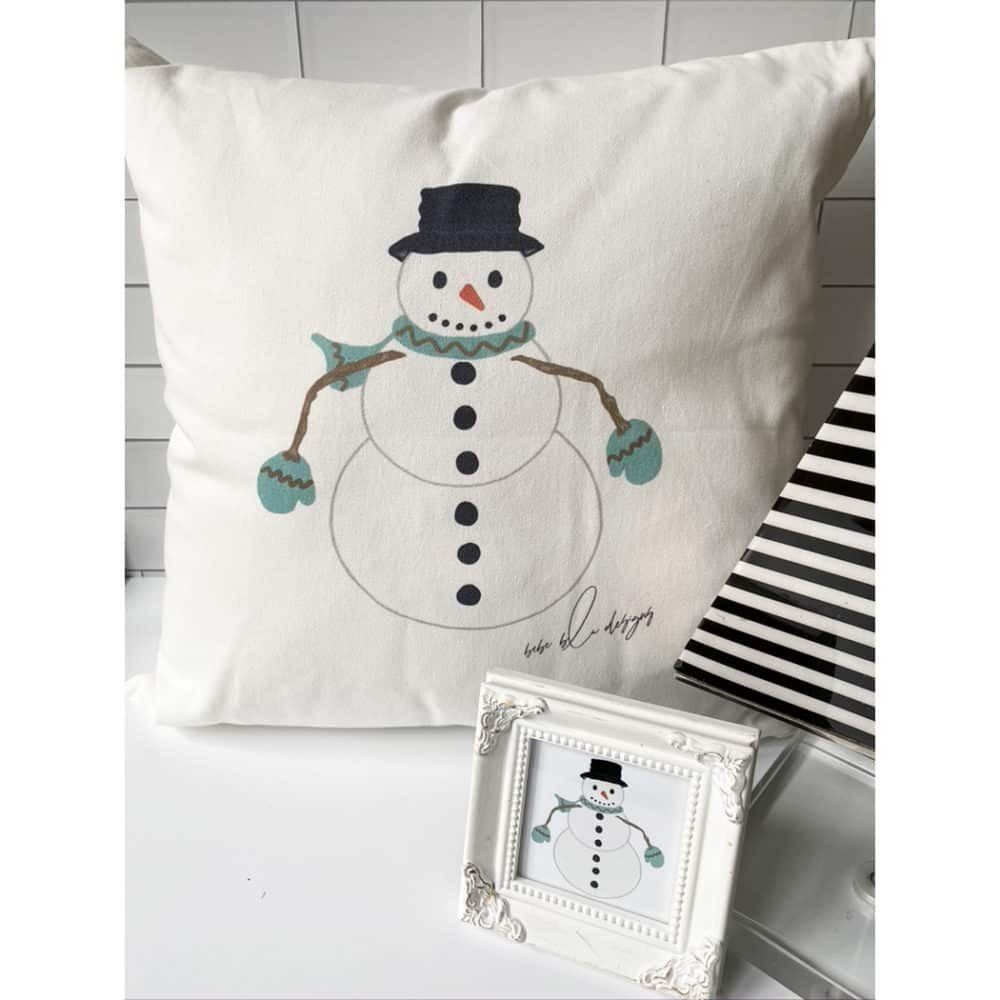 snowman pillow for web