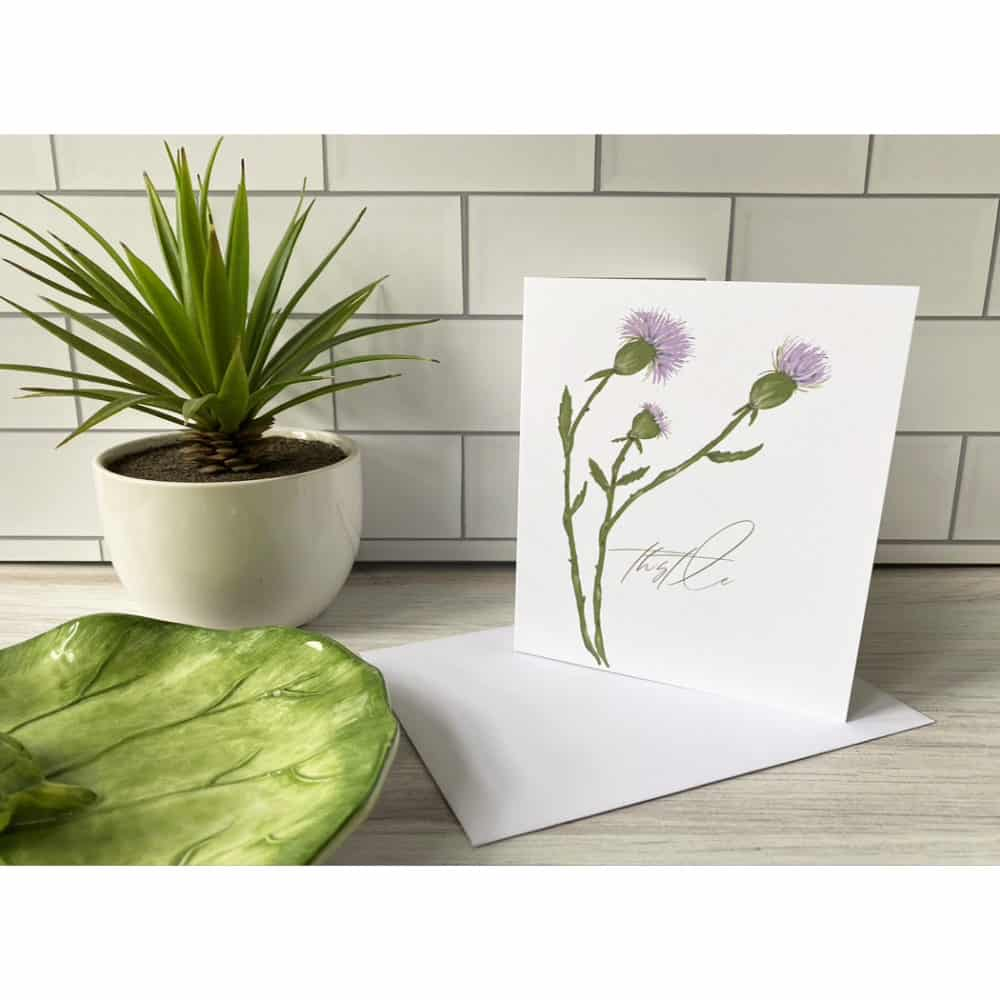 thistle note card