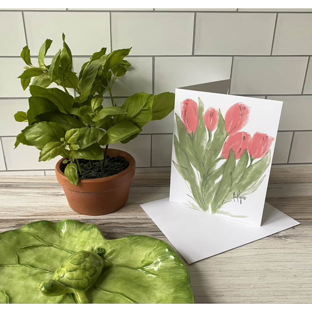 tulip note card