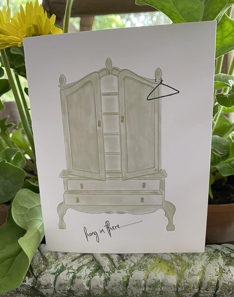 wardrobe with hanger