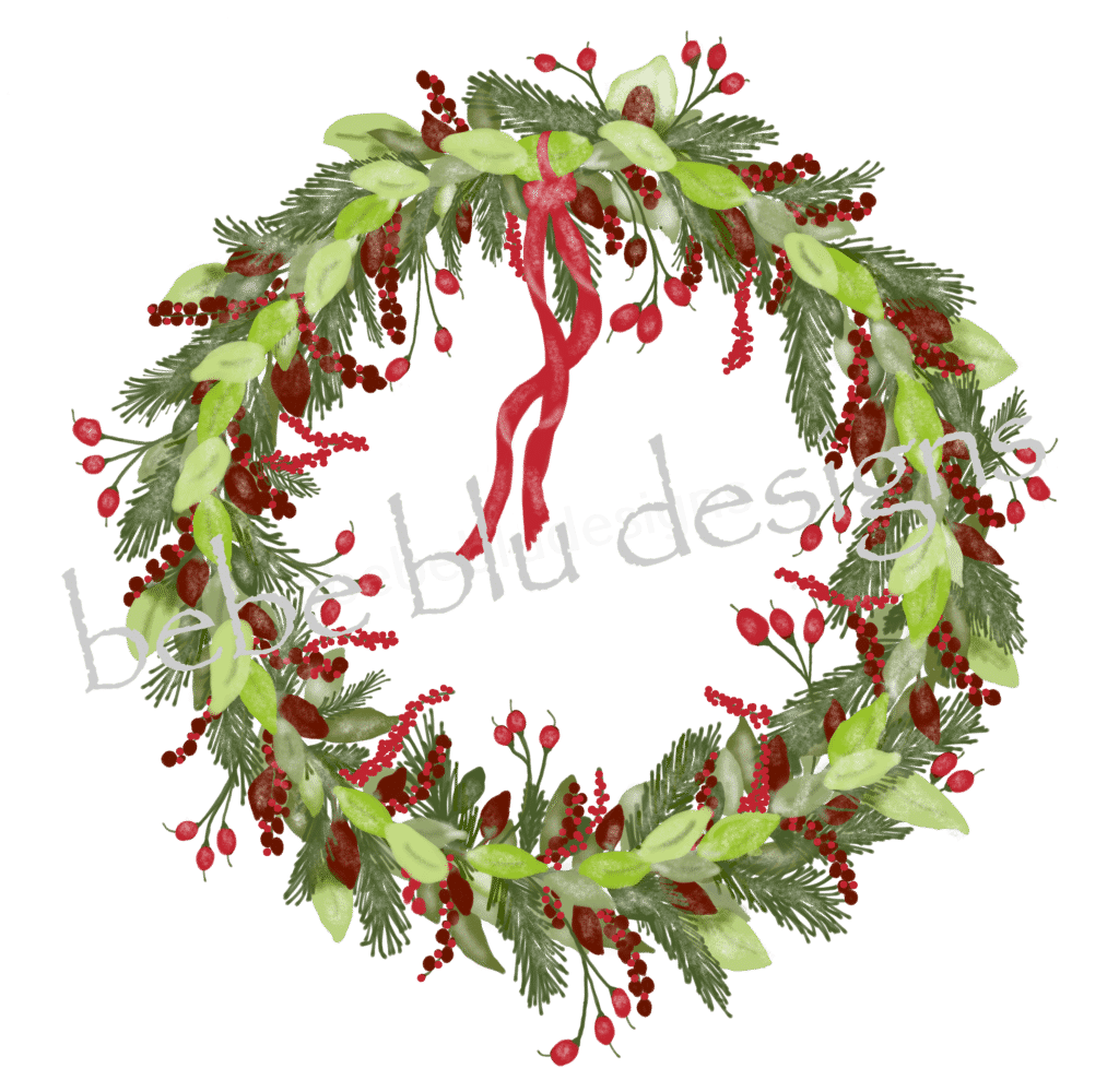 wreath new berries