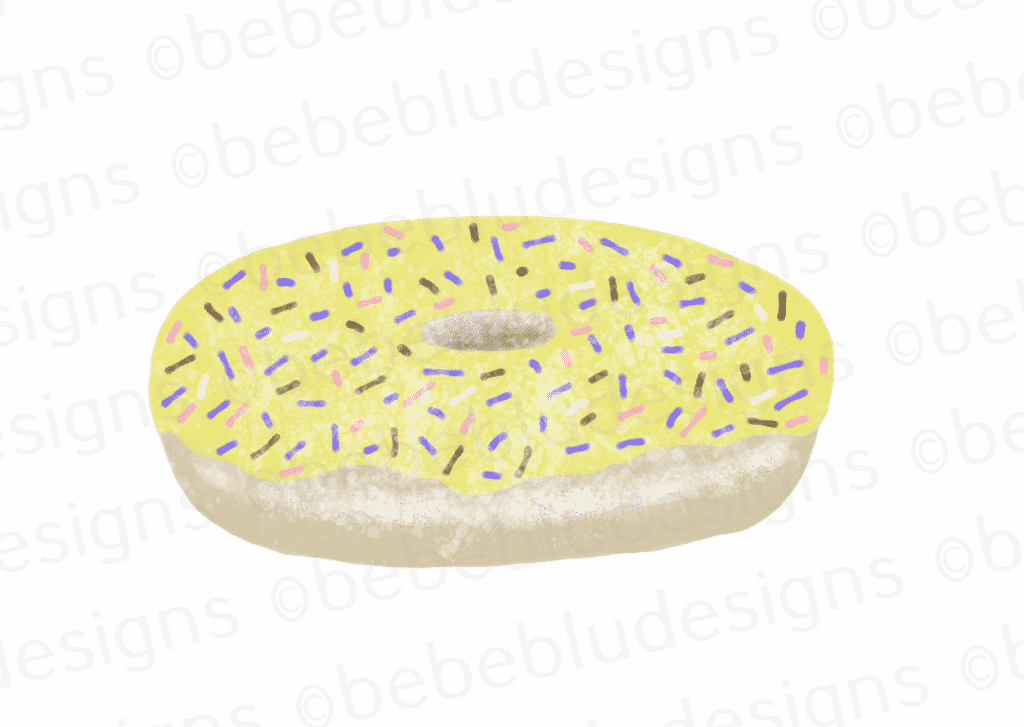 yellow donut
